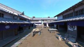 Cidade japonesa do castelo video estoque