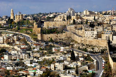 A cidade Jerusalem do holi Fotografia de Stock