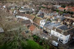 Cidade kent Inglaterra do sanduíche em casa de Saint real Georges do campo de golfe aberto imagens de stock royalty free
