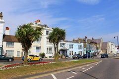 Cidade Kent Reino Unido de Walmer da opinião da rua fotos de stock royalty free