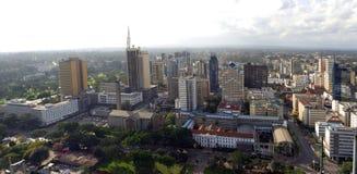 Cidade Kenya de Nairobi foto de stock