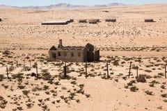 cidade Kolmanskop em Namíbia Fotografia de Stock Royalty Free