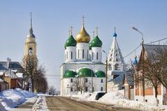 Cidade Kolomna do russo na neve imagem de stock
