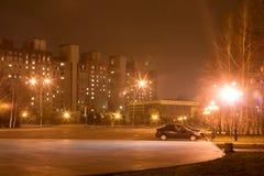 Cidade Krivoy Rog da noite imagens de stock royalty free