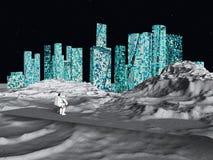 Cidade lunar ilustração royalty free