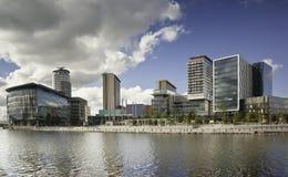 Cidade Manchester dos media fotografia de stock