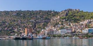 A cidade maravilhosa da costa de Antalya, Turquia imagem de stock royalty free