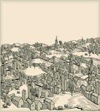 Cidade medieval Imagem de Stock Royalty Free