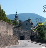 Cidade medieval de Albertville imagens de stock