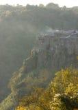 Cidade medieval de Calcata em Itália imagem de stock