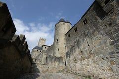 Cidade medieval de Carcassonne, França Imagem de Stock Royalty Free