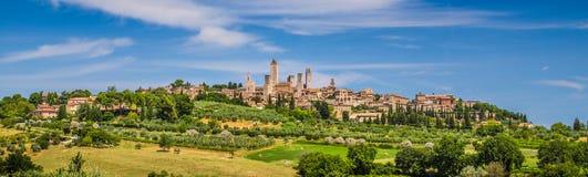 Cidade medieval de San Gimignano, Toscânia, Itália imagens de stock