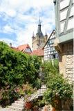 Cidade medieval de Wimpfen mau em Alemanha foto de stock