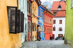 Cidade medieval do sighisoara fotos de stock
