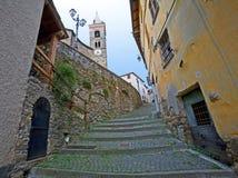 Cidade medieval italiana, mendatica Imagem de Stock Royalty Free