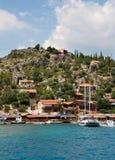 Cidade mediterrânea fotos de stock royalty free