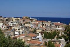 Cidade mediterrânea, Chania, Crete imagem de stock