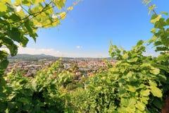 Cidade Metzingen da compra da tomada Fotos de Stock