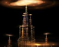 Cidade misteriosa. ilustração royalty free