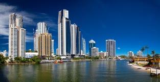 Cidade moderna Foto de Stock Royalty Free
