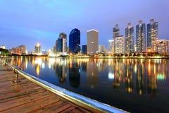 Cidade moderna, arquitectura da cidade de Banguecoque Foto de Stock