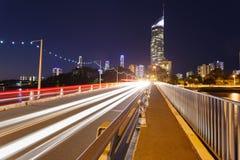 Cidade moderna australiana na noite Fotografia de Stock Royalty Free