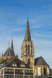 Cidade moderna e antiga de Aix-la-Chapelle Foto de Stock Royalty Free