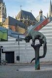 Cidade moderna e antiga de Aix-la-Chapelle Fotografia de Stock