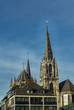 Cidade moderna e antiga de Aix-la-Chapelle Imagem de Stock