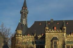 Cidade moderna e antiga de Aix-la-Chapelle Imagens de Stock