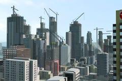 Cidade moderna sob a construção Imagens de Stock