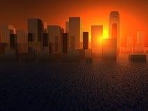 Cidade molhada ilustração do vetor