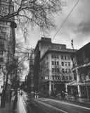 Cidade molhada fotos de stock