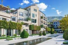 Cidade Montenegro de Tivat da linha costeira imagens de stock royalty free
