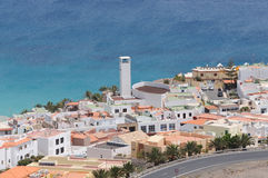 Cidade Morro Jable, Fuerteventura, Spain Fotos de Stock Royalty Free