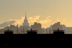 Cidade, Moscou, contorno fotografia de stock