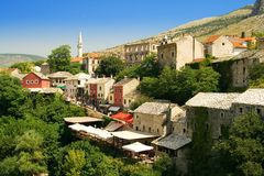A cidade Mostar Foto de Stock Royalty Free