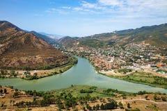 Cidade Mtskheta Geórgia fotografia de stock royalty free