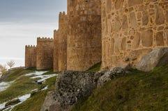 Cidade murada de Avila, Espanha fotografia de stock