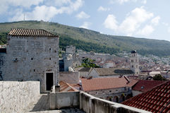 A cidade murada de Dubrovnic na Croácia Europa Dubrovnik é alcunhado pérola do ` do Adriático Imagem de Stock