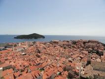 A cidade murada de Dubrovnik Imagem de Stock Royalty Free