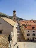 A cidade murada de Dubrovnik, Croácia Imagem de Stock