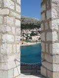 A cidade murada de Dubrovnik, Croácia Imagens de Stock Royalty Free