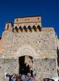 Cidade murada de San Gimignano foto de stock royalty free