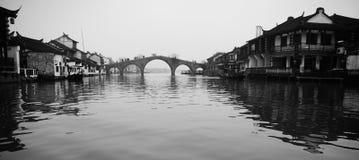 A cidade na água Foto de Stock