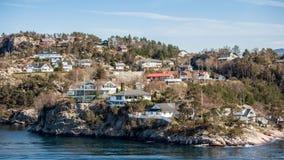 Cidade na água em Noruega fotos de stock