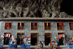 Cidade na caverna Fotografia de Stock