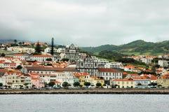 Cidade na costa de Açores Imagens de Stock Royalty Free