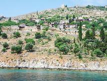 Cidade na costa de Antalya Imagens de Stock Royalty Free