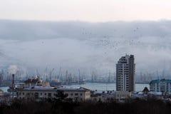 Cidade na manhã Imagem de Stock Royalty Free
